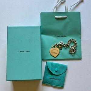 Tiffany & Co xlarge heart charm bracelet